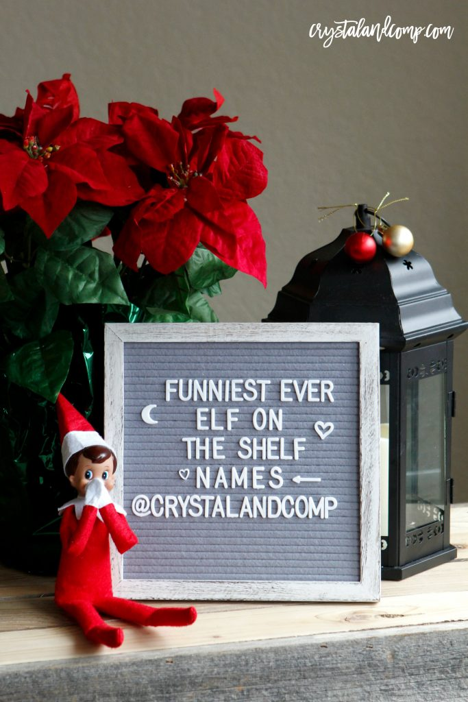 hilarious elf on the shelf names