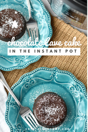Instant Pot Chocolate Lava Cake by Crystal and Comp