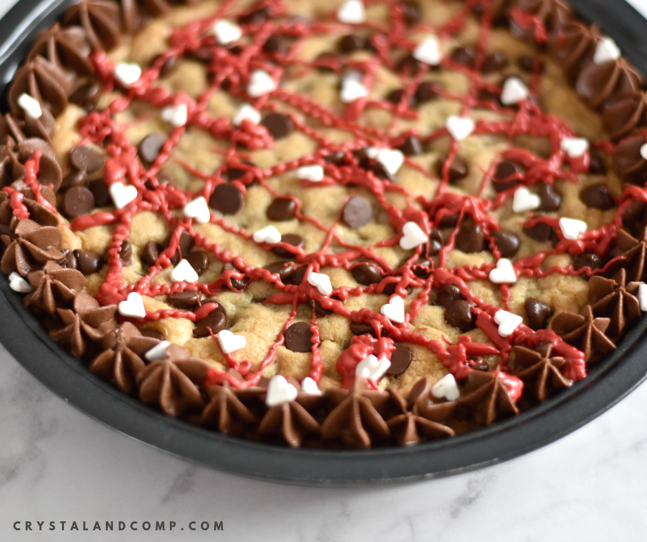 Valentine Chocolate Chip Cookie Cake Crystalandcomp Com