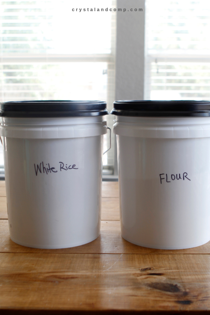 how to store bulk rice and flour