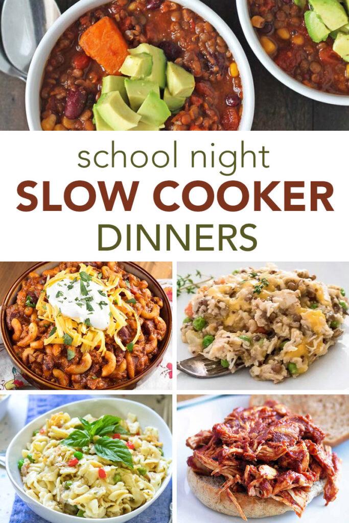 Slow Cooker School Night Dinner Ideas Crystalandcomp Com