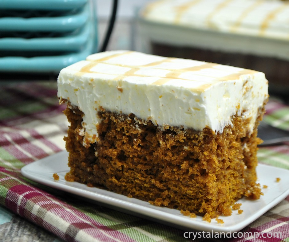 Pumpkin Caramel Poke Cake Recipe