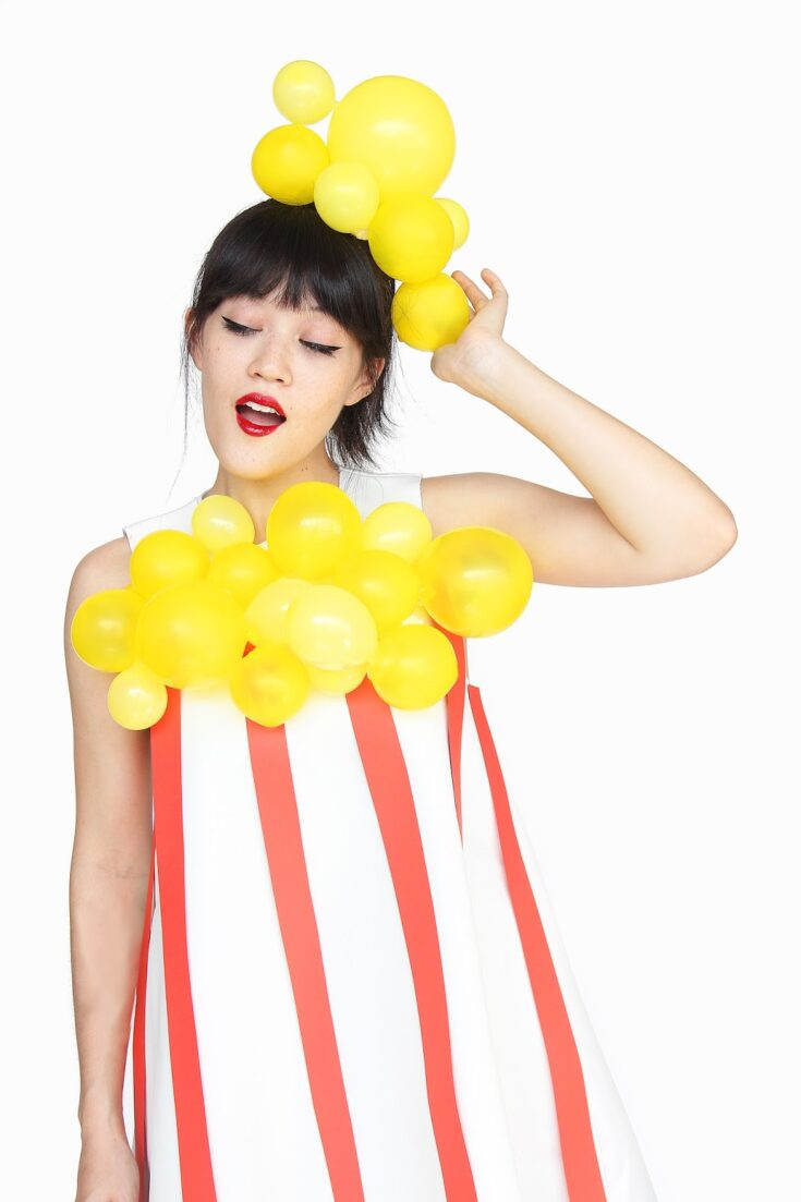 DIY Popcorn Halloween Costume