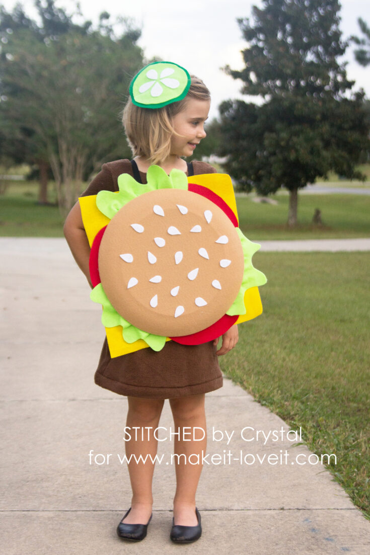 No-Sew Cheeseburger Costume