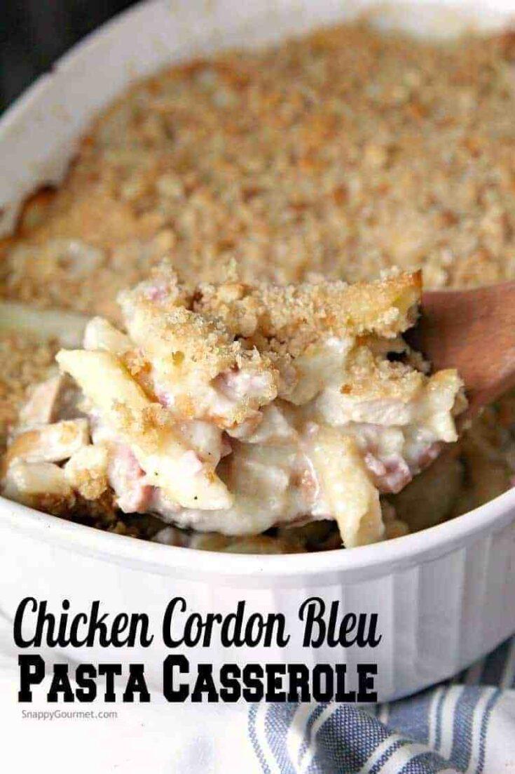Chicken Cordon Bleu Pasta Casserole Recipe