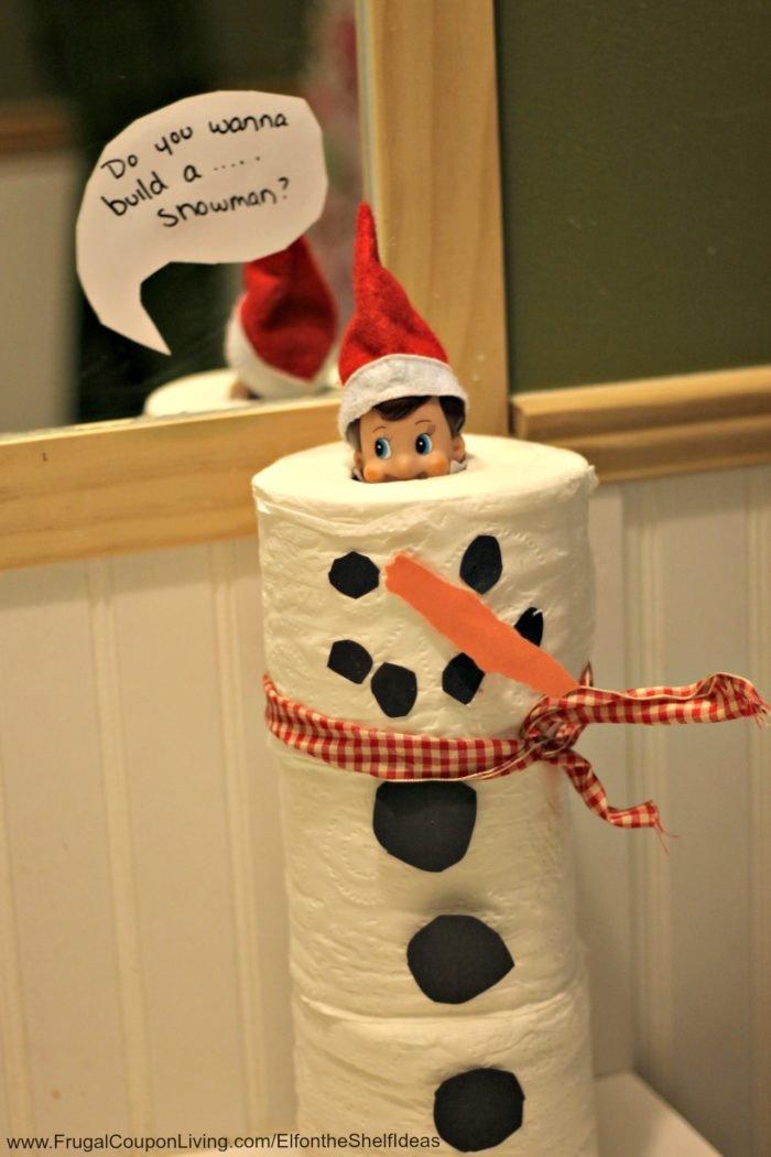 Easy Elf on the Shelf Snowman Ideas