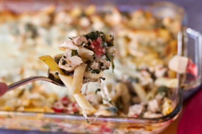 Chicken and Spinach Pasta Bake Recipe