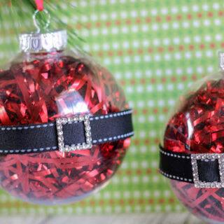 Homemade Santa Belly Ornaments