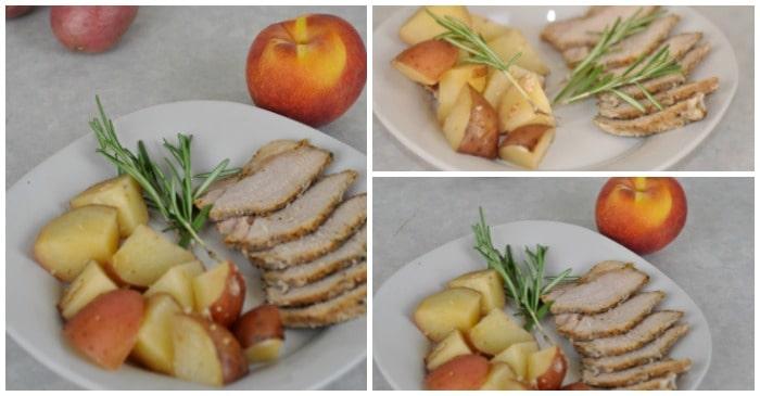 Easy Roasted Peaches & Pork Loin, a One-Pot Crockpot Meal