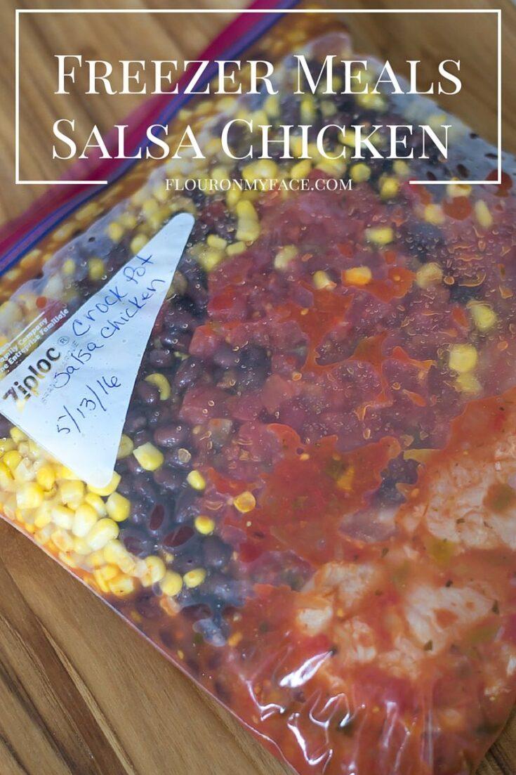 Freezer Meals Crock Pot Salsa Chicken