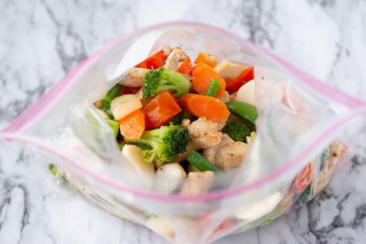 Chicken and Veggie Stir Fry (Freezer Meal!)