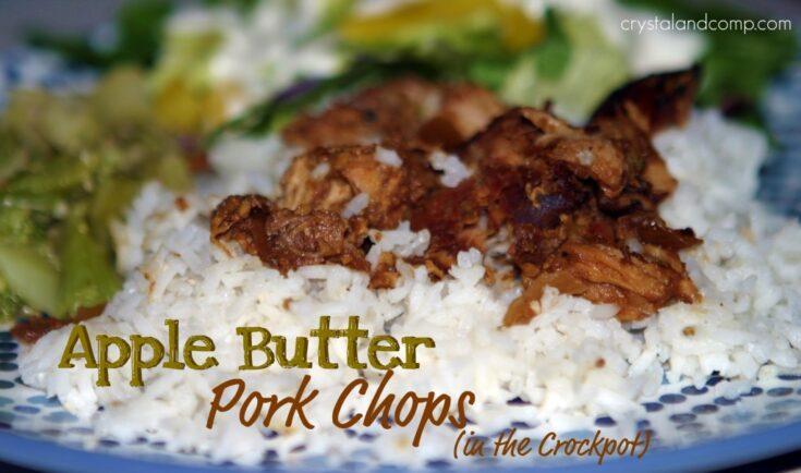 Apple Butter Pork Chops in the Crockpot