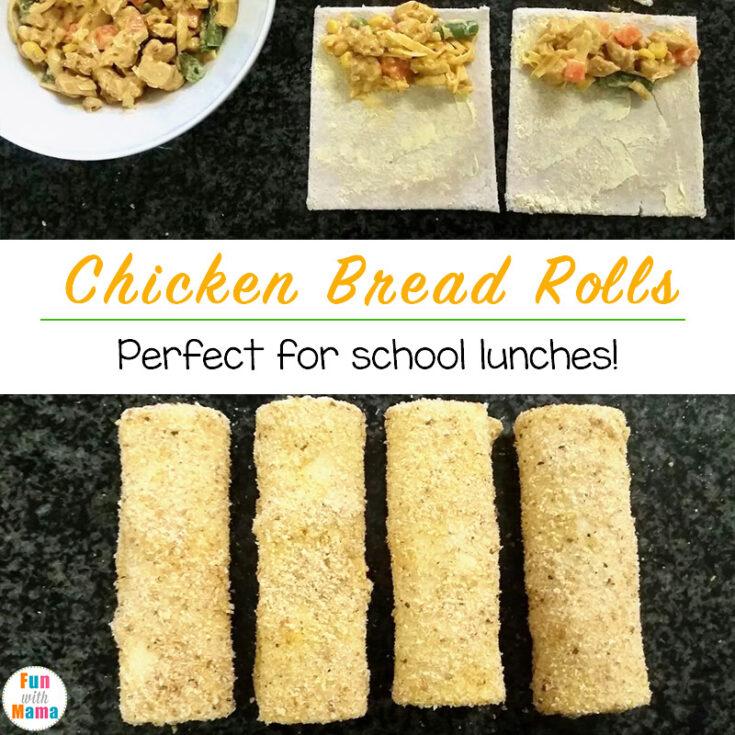 Chicken Bread Rolls School Lunch Idea