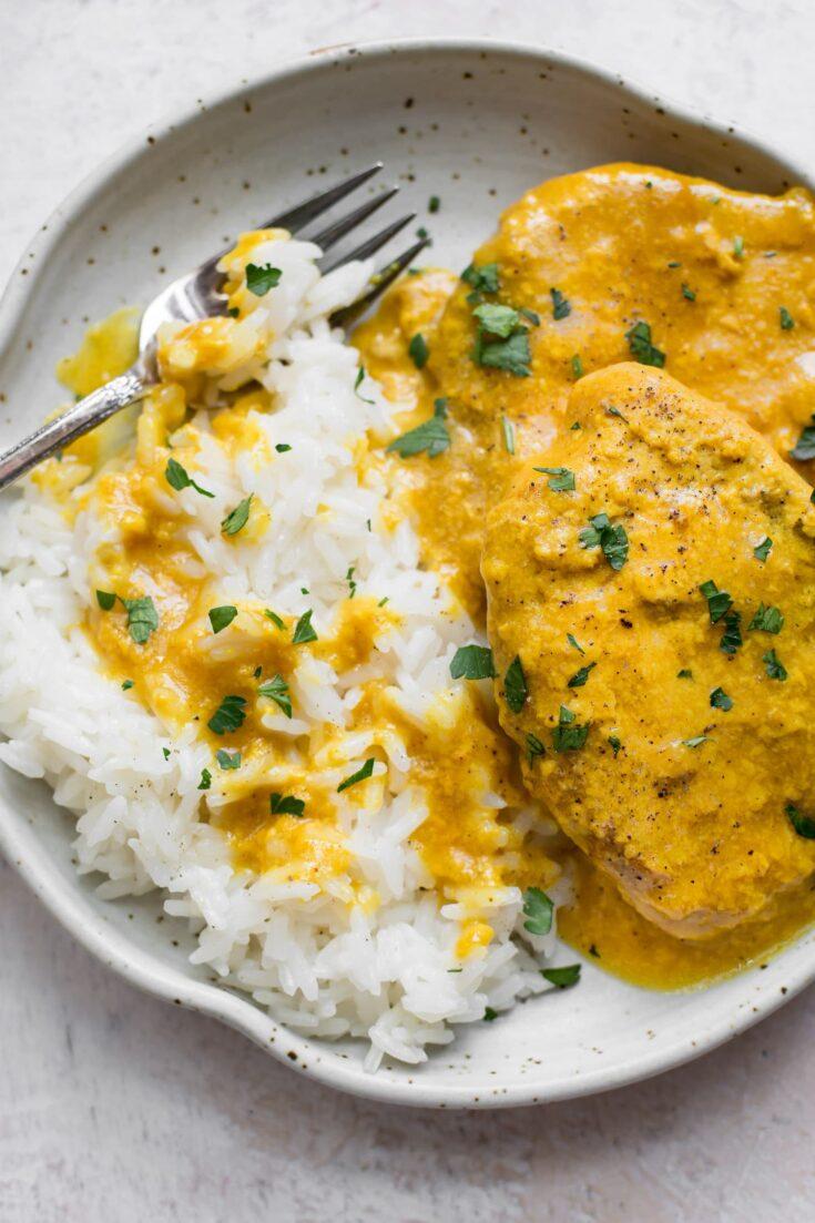 Crockpot Honey Mustard Pork Chops