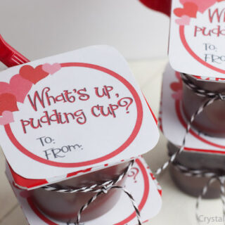Pudding Cup Valentine Printable