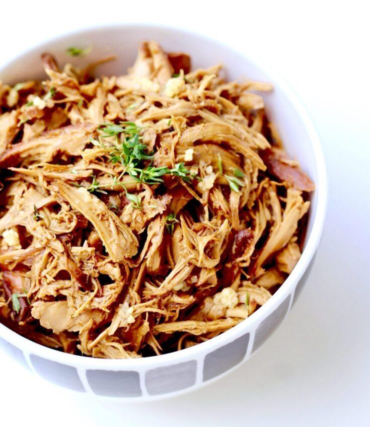 5 Ingredient Honey Garlic Chicken Crock-Pot Recipe | Healthy & Easy