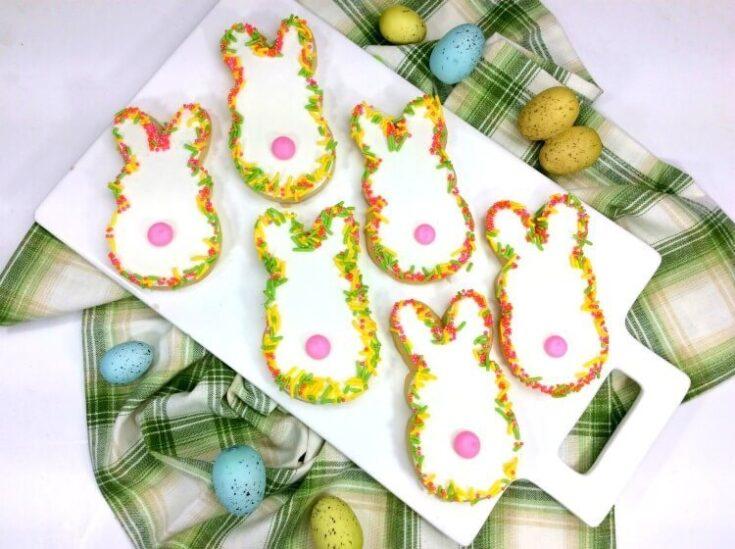 Easter Bunny Sprinkle Cookies