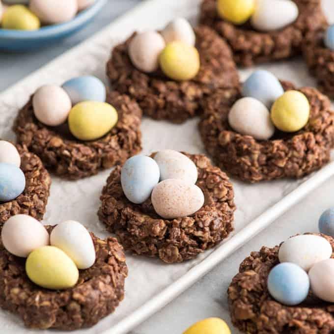 Easter Nest Cookies (gluten-free & vegan)