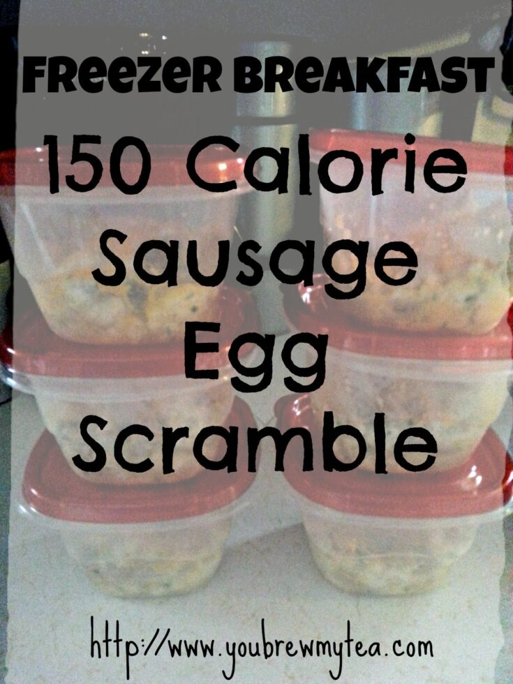 Freezer Breakfast 150 Calorie Sausage Egg Scramble