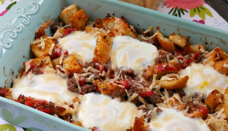 Sourdough and Sausage Tuscan Egg Bake Recipe