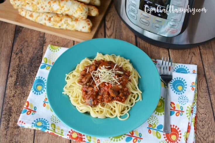 Lightning Quick Dinner: Instant Pot Spaghetti Sauce