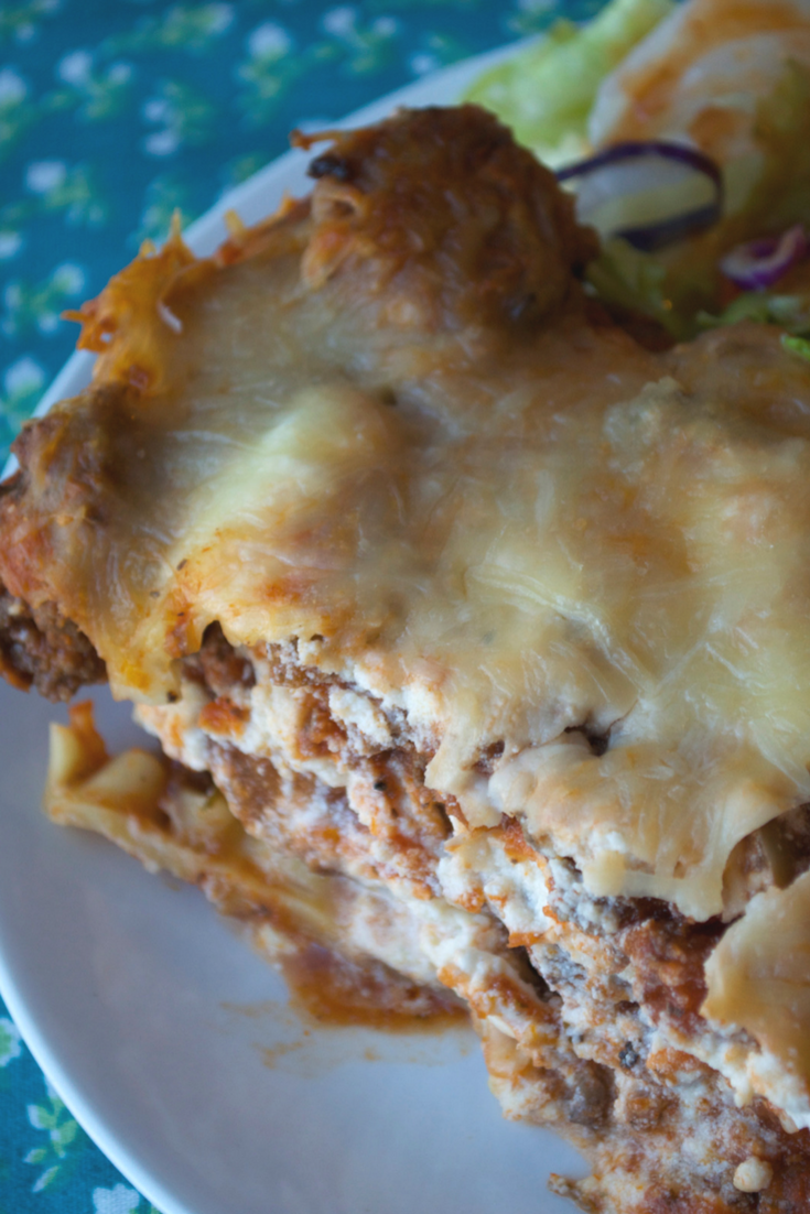 Lightened Up Homemade Lasagna Dish