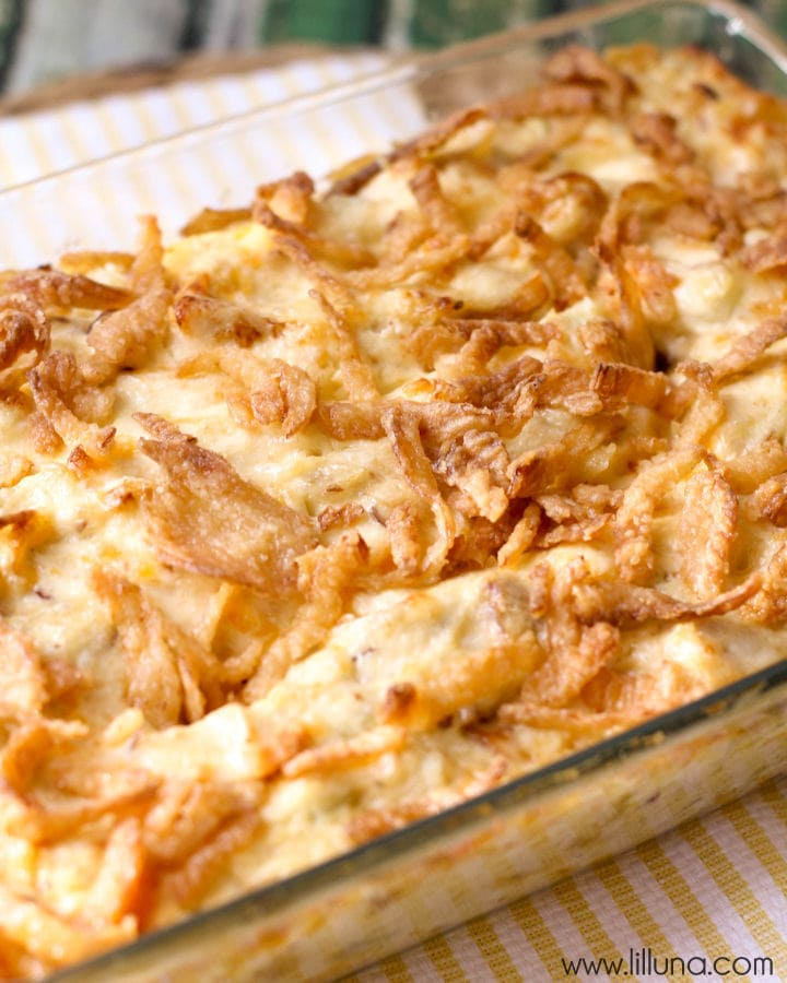 French Onion Chicken Casserole {Only 10 minutes of prep!}