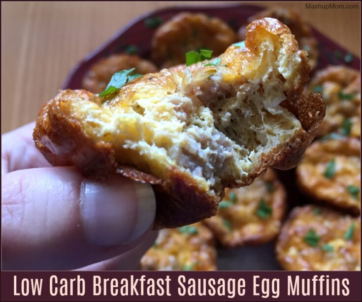 Low Carb Breakfast Sausage Egg Muffins -- Also Gluten Free!