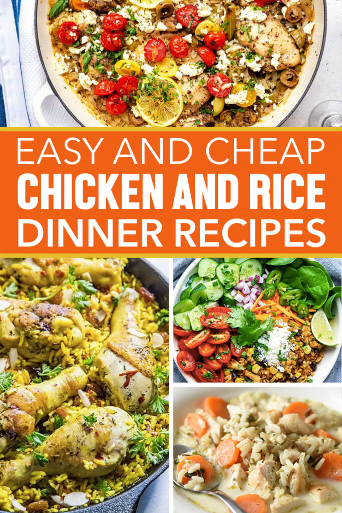 easy and frugal chicken and rice dinner recipes