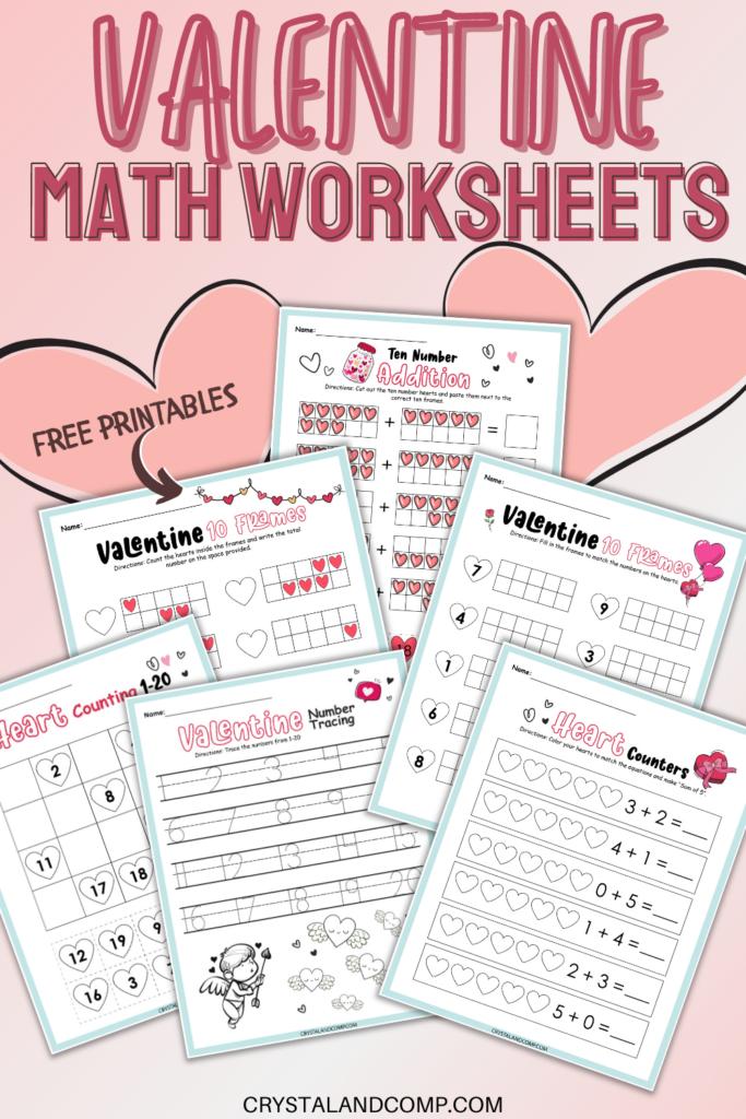 Valentine Themed Math Worksheet For Kindergarten - 35+ Free Printable Valentine Worksheets For Kindergarten Images