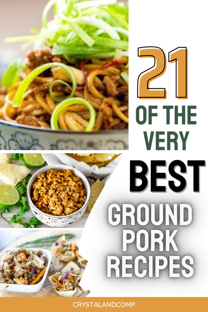 easy ground pork recipes