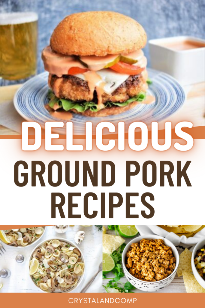 ground pork recipes for dinner